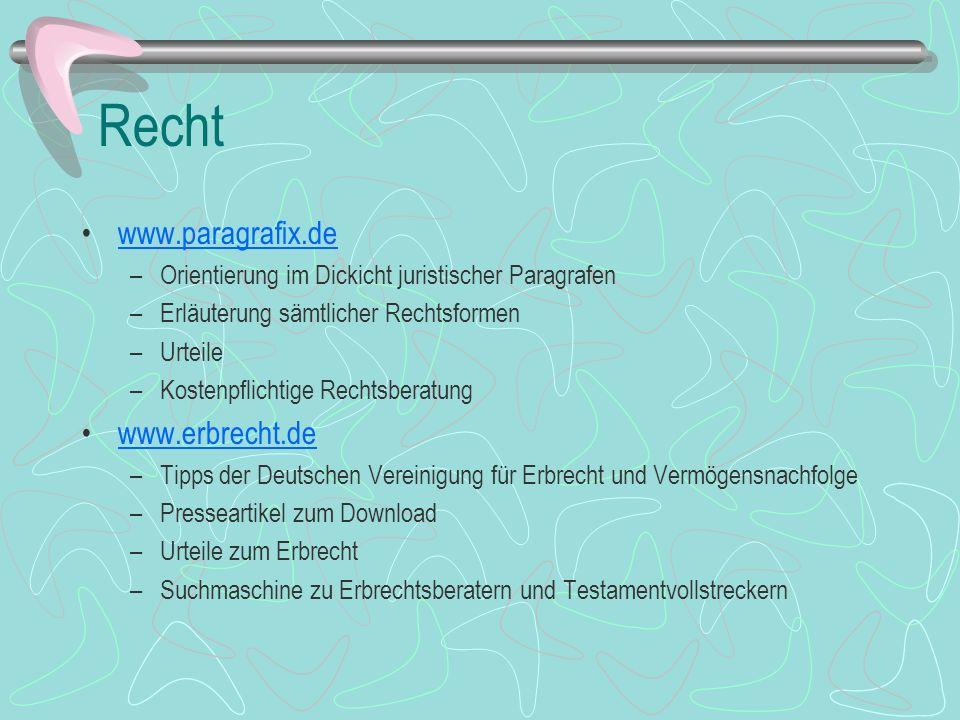 Recht www.paragrafix.de www.erbrecht.de