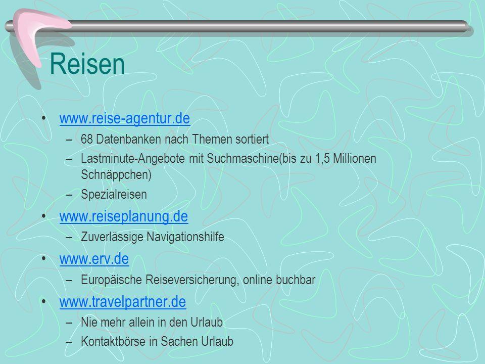 Reisen www.reise-agentur.de www.reiseplanung.de www.erv.de