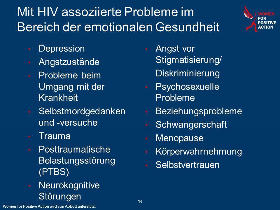 Mit HIV assoziierte Probleme im Bereich der emotionalen Gesundheit