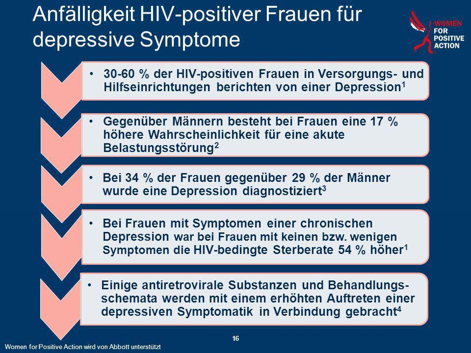 Anfälligkeit HIV-positiver Frauen für depressive Symptome