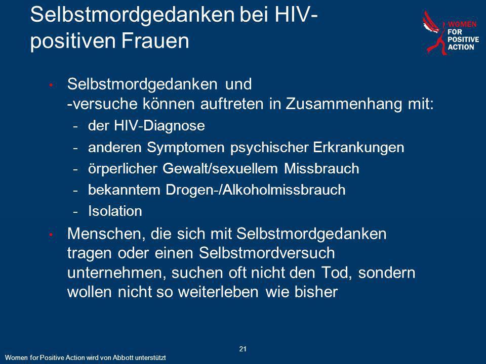 Selbstmordgedanken bei HIV-positiven Frauen