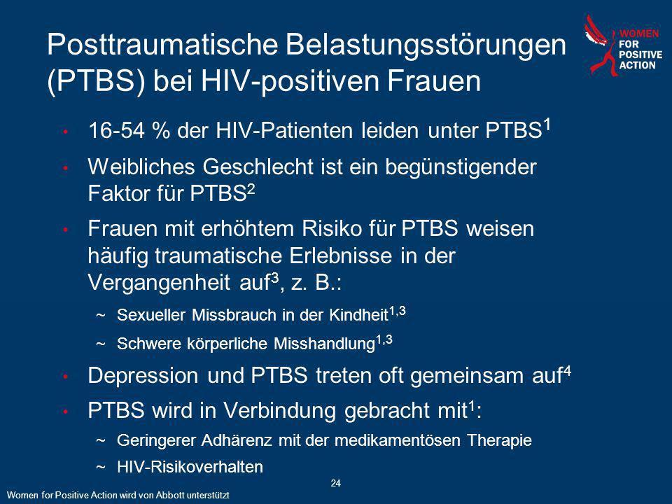 Posttraumatische Belastungsstörungen (PTBS) bei HIV-positiven Frauen