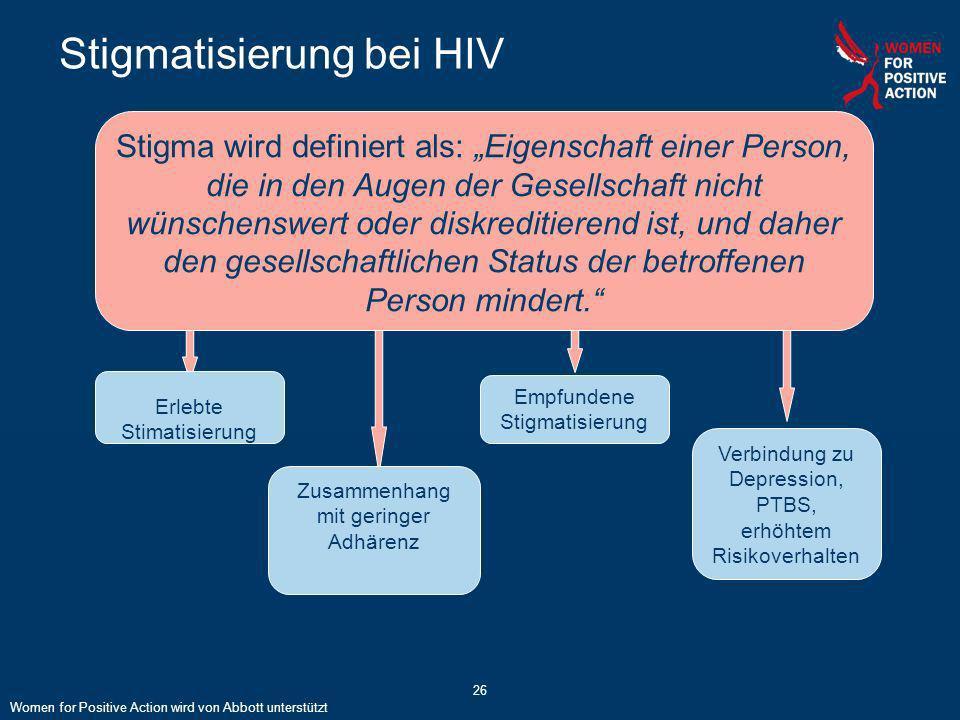 Stigmatisierung bei HIV
