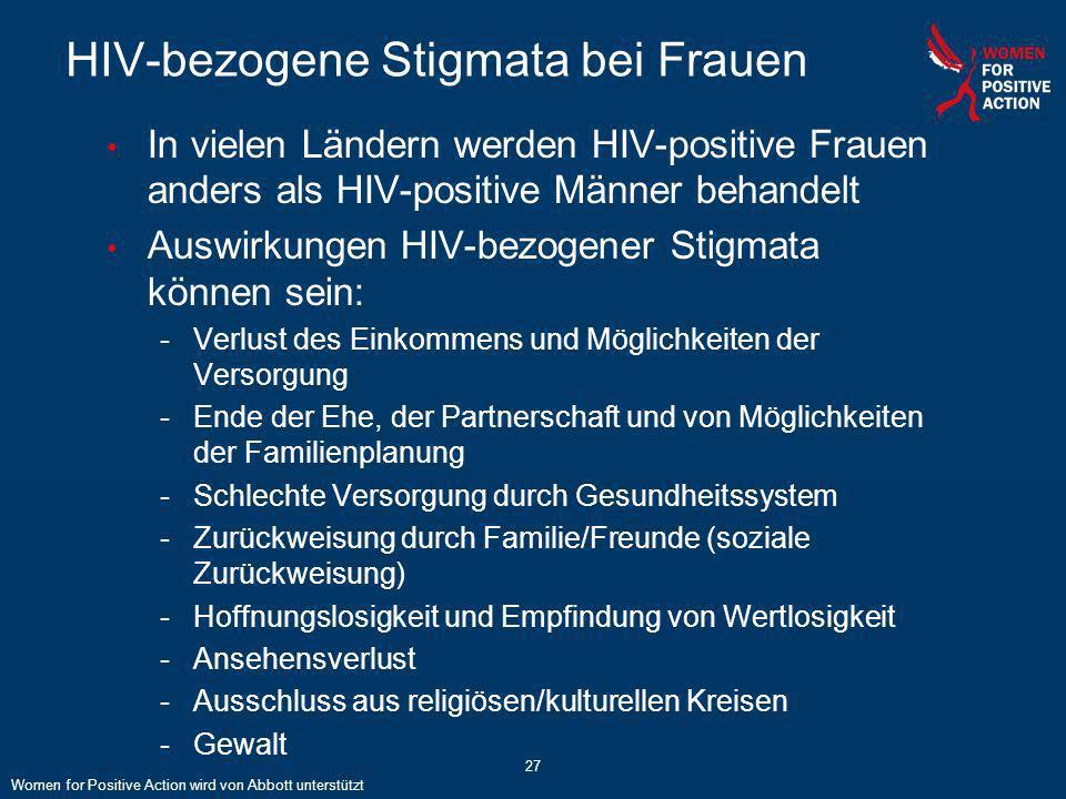 HIV-bezogene Stigmata bei Frauen