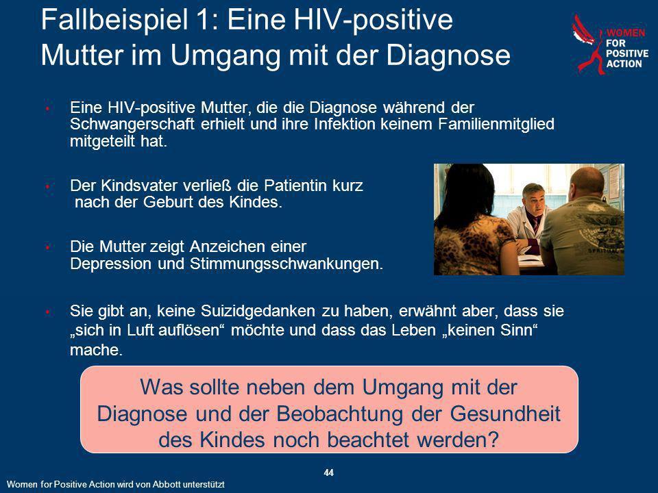 Fallbeispiel 1: Eine HIV-positive Mutter im Umgang mit der Diagnose