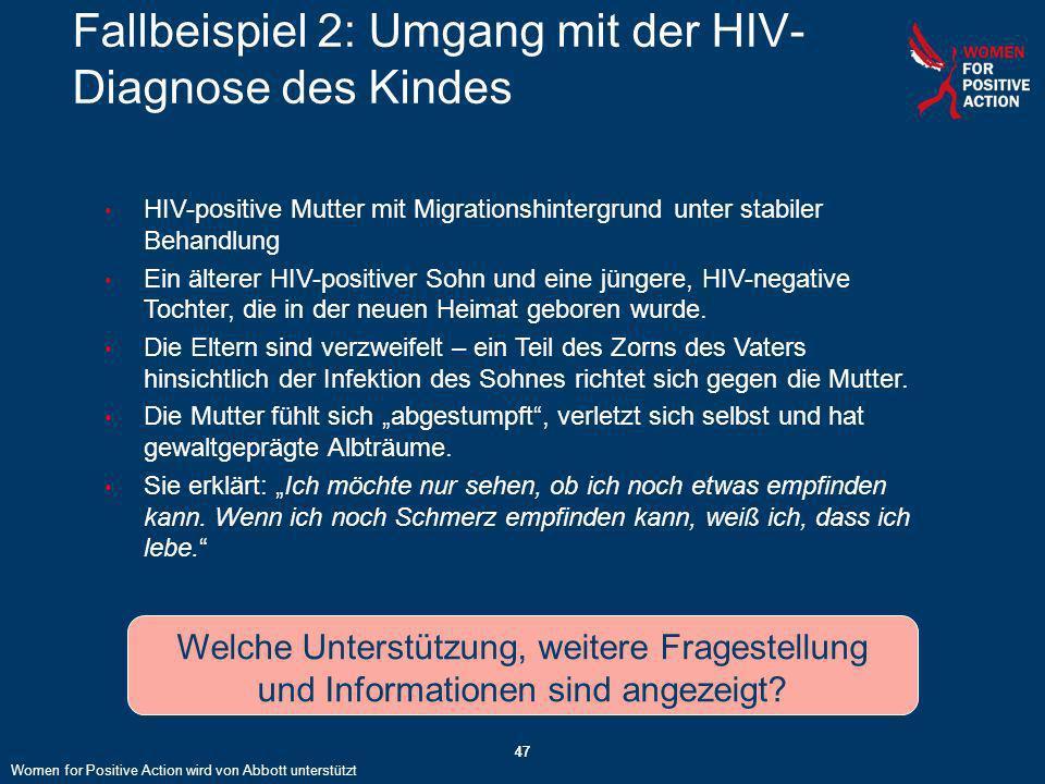 Fallbeispiel 2: Umgang mit der HIV-Diagnose des Kindes