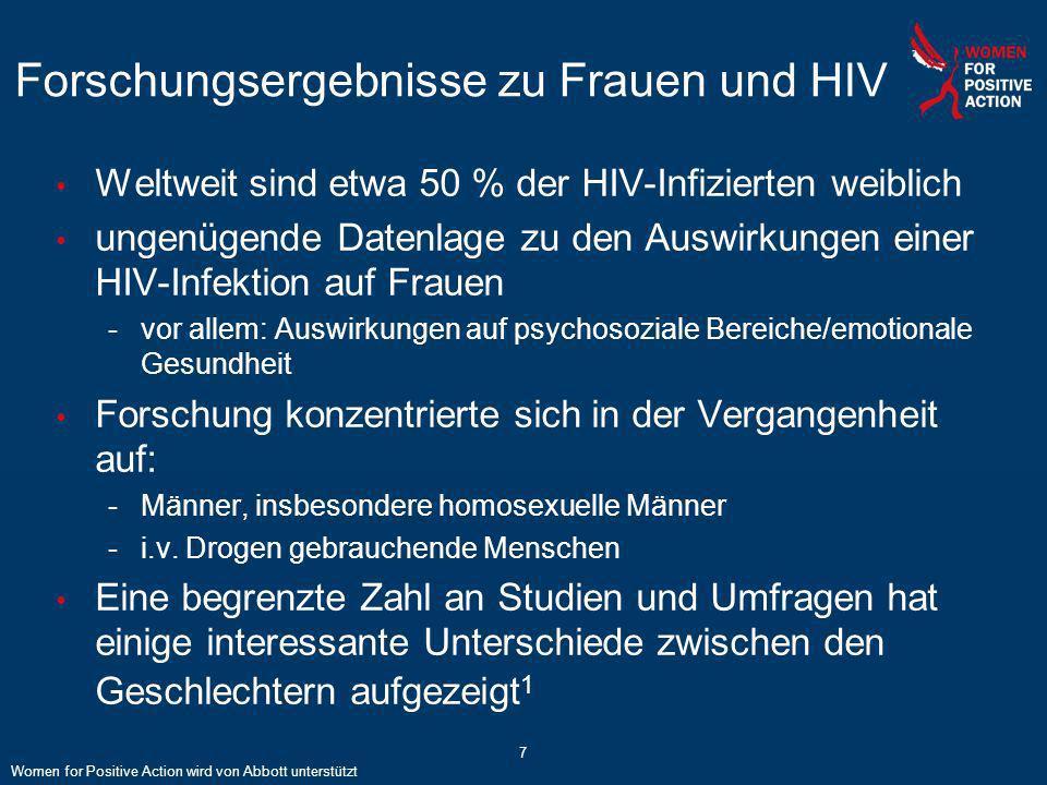 Forschungsergebnisse zu Frauen und HIV
