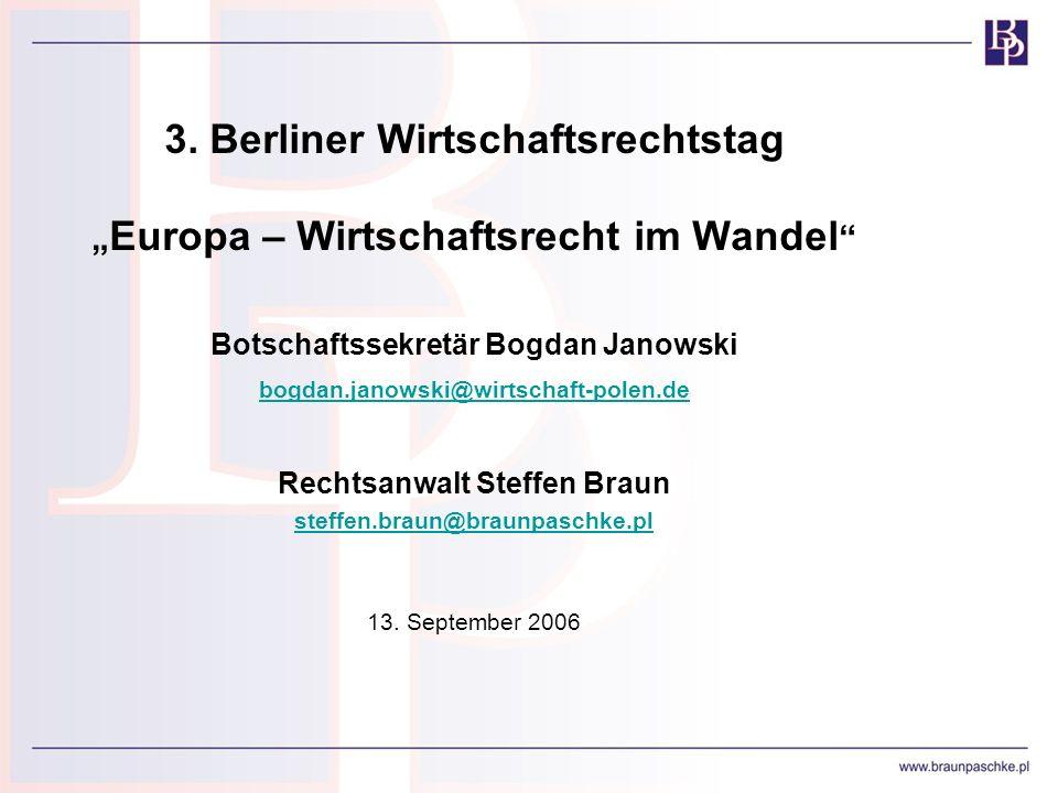 3. Berliner Wirtschaftsrechtstag
