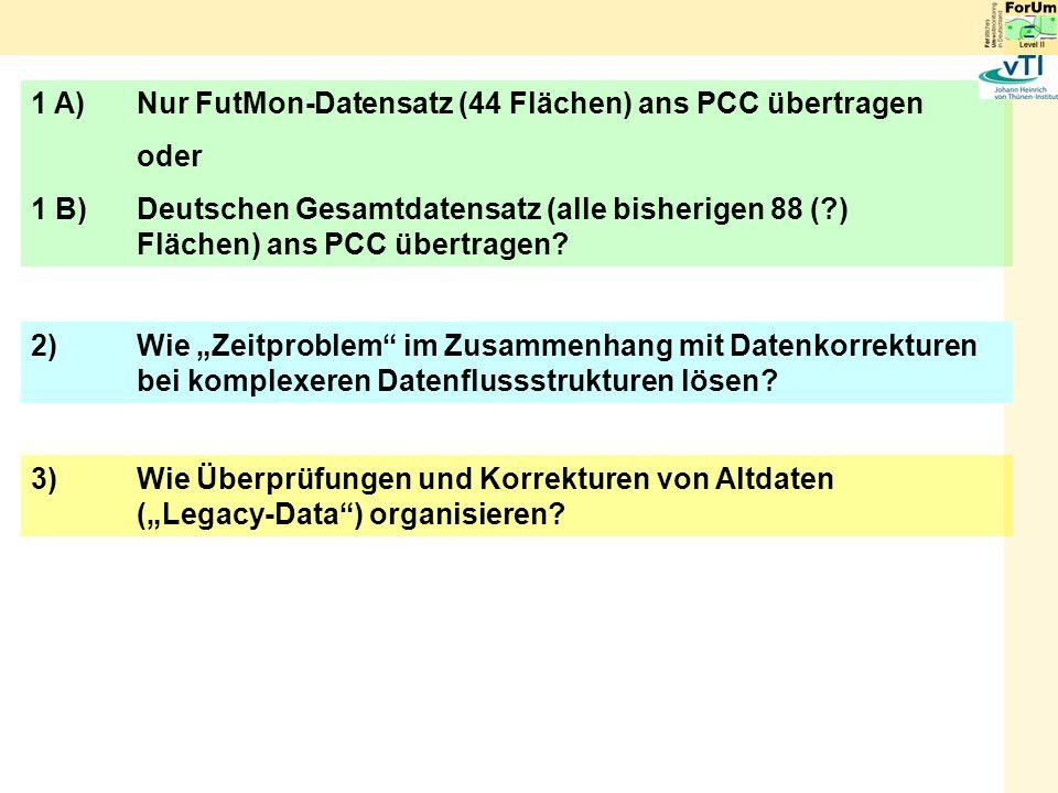 1 A) Nur FutMon-Datensatz (44 Flächen) ans PCC übertragen
