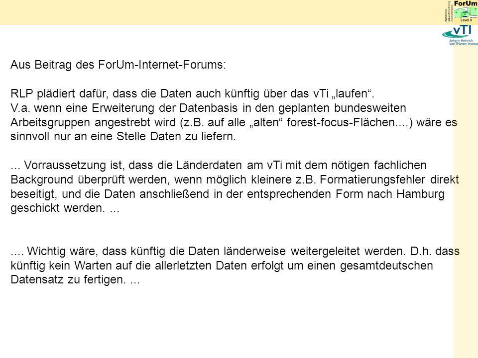 Aus Beitrag des ForUm-Internet-Forums: