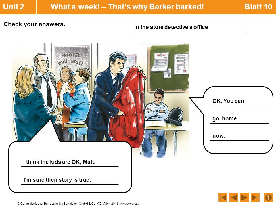 Unit 2 What a week! – That's why Barker barked! Blatt 10