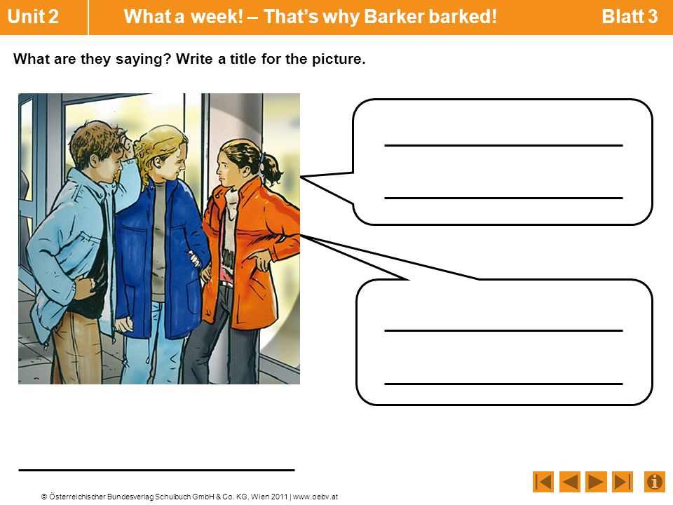 Unit 2 What a week! – That's why Barker barked! Blatt 3