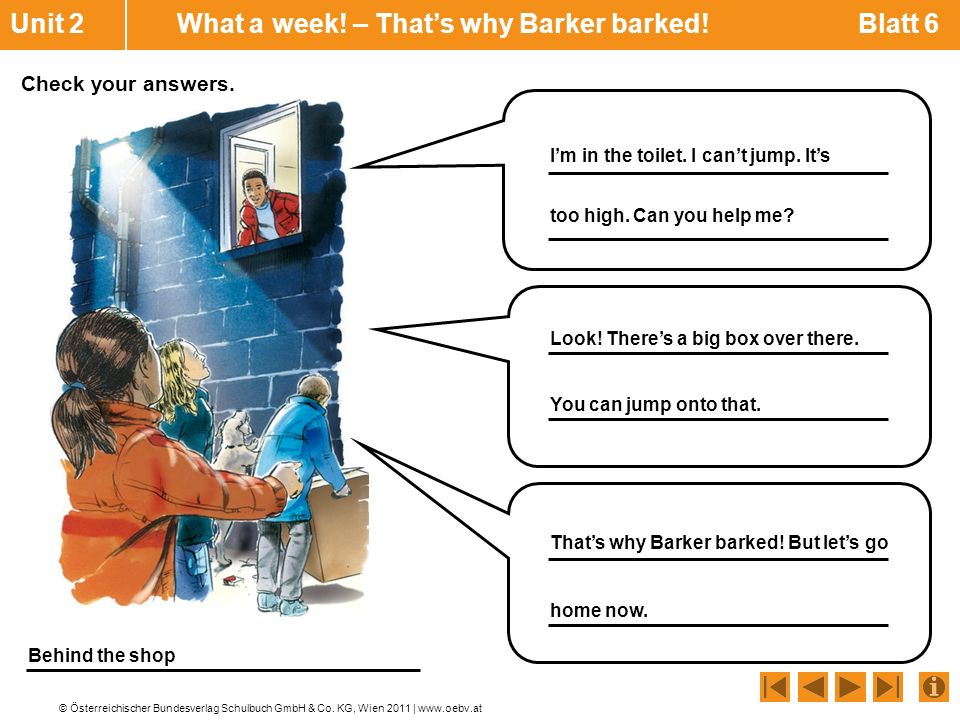 Unit 2 What a week! – That's why Barker barked! Blatt 6