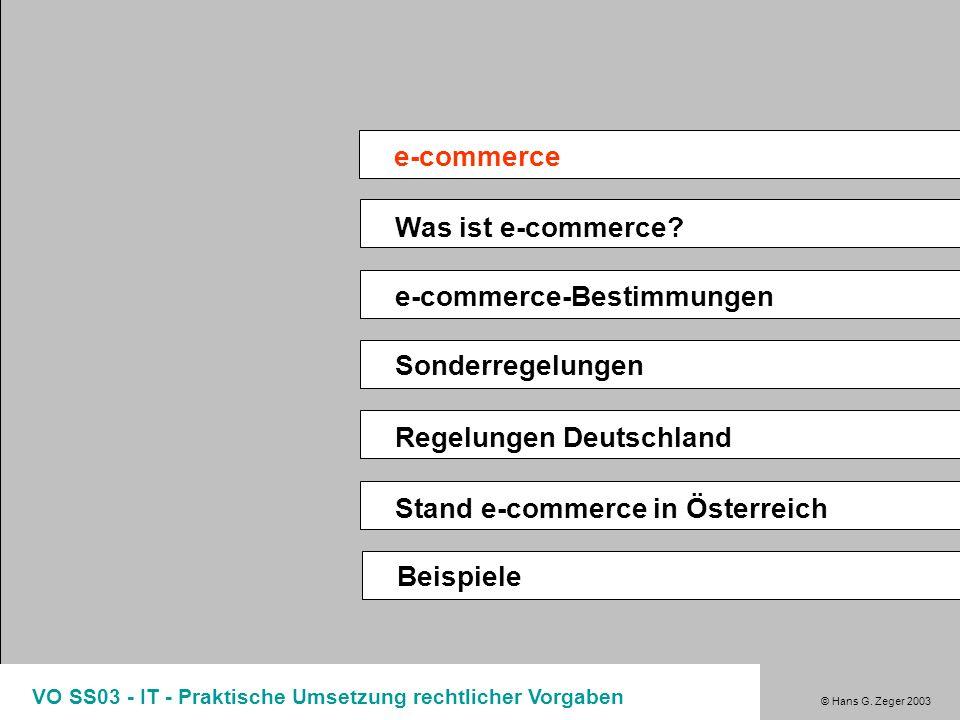 e-commerce Was ist e-commerce e-commerce-Bestimmungen
