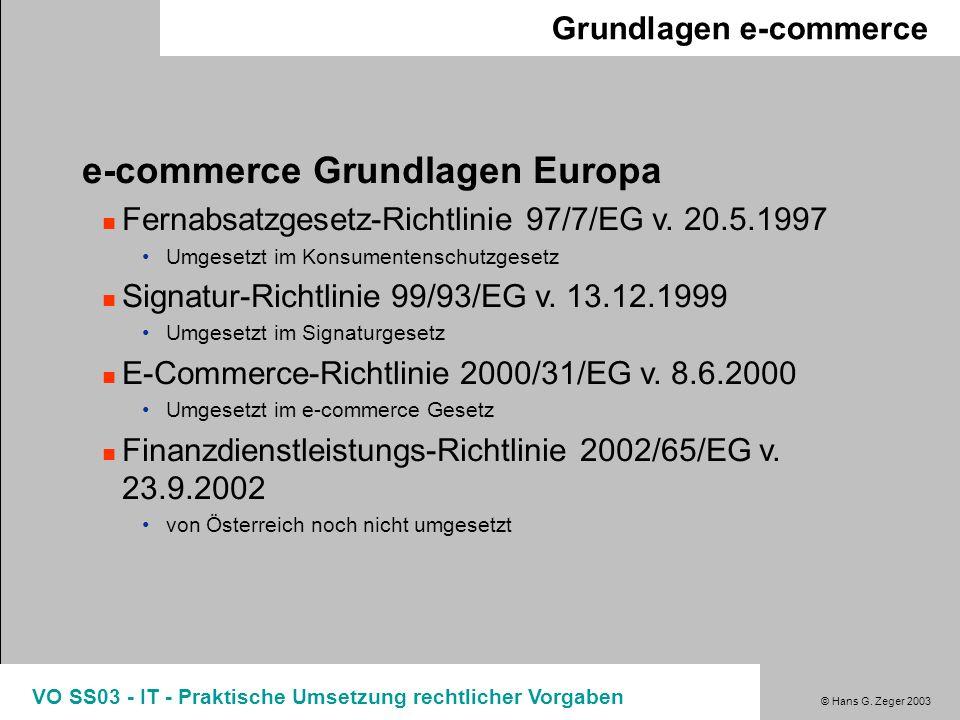 e-commerce Grundlagen Europa