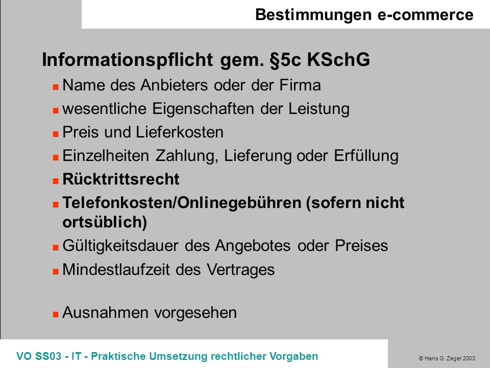 Informationspflicht gem. §5c KSchG