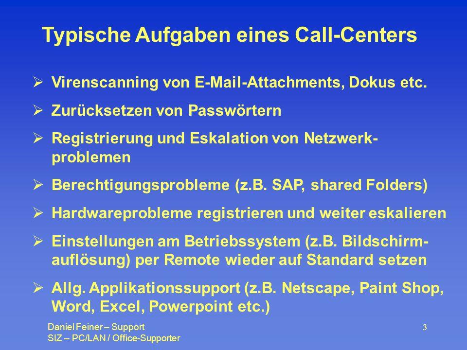 Typische Aufgaben eines Call-Centers