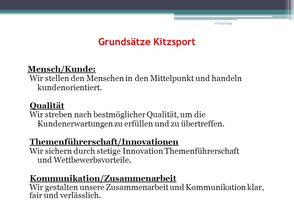 Grundsätze Kitzsport Mensch/Kunde: