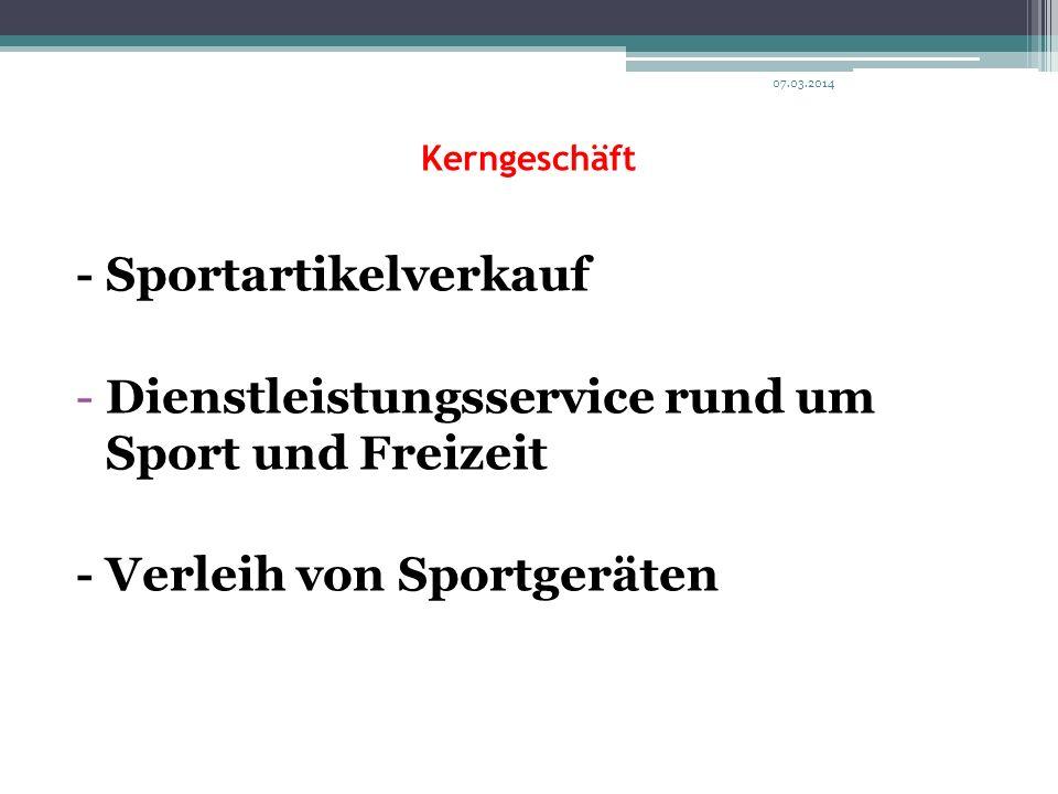 - Sportartikelverkauf