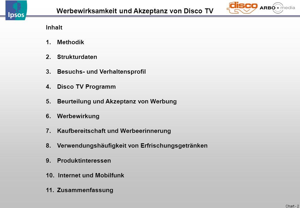 Werbewirksamkeit und Akzeptanz von Disco TV