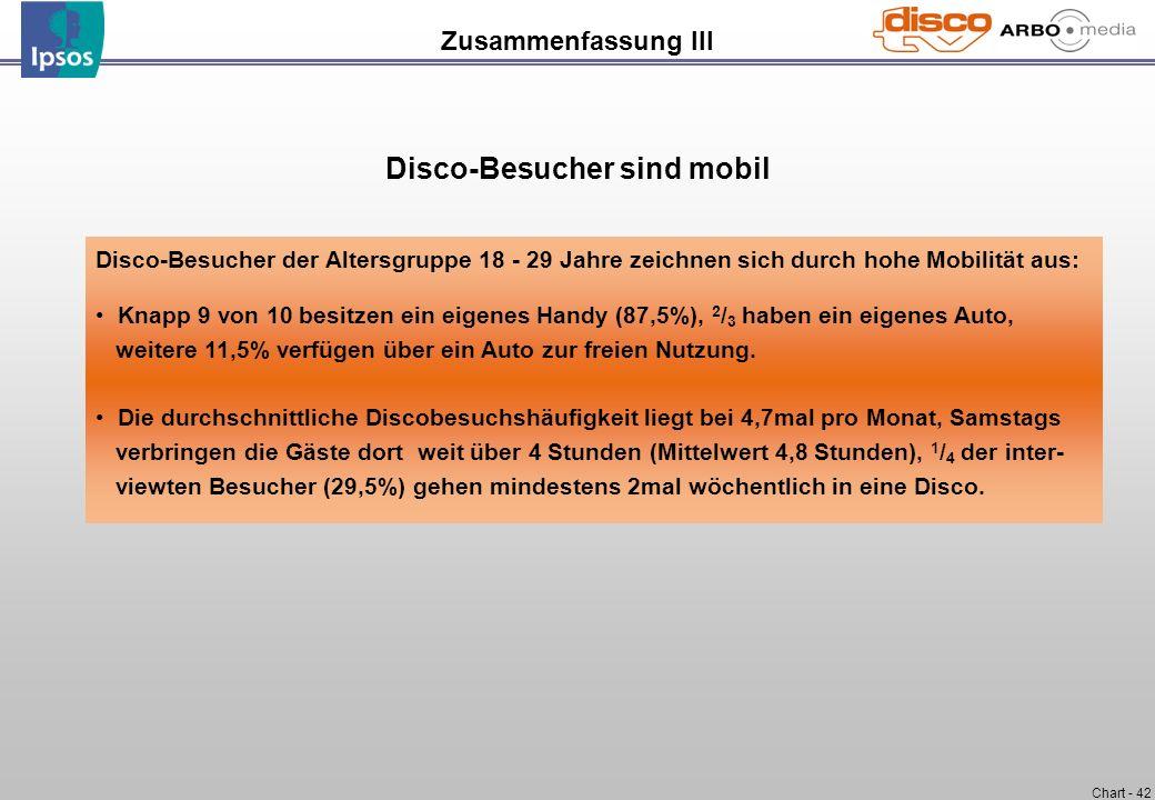 Disco-Besucher sind mobil