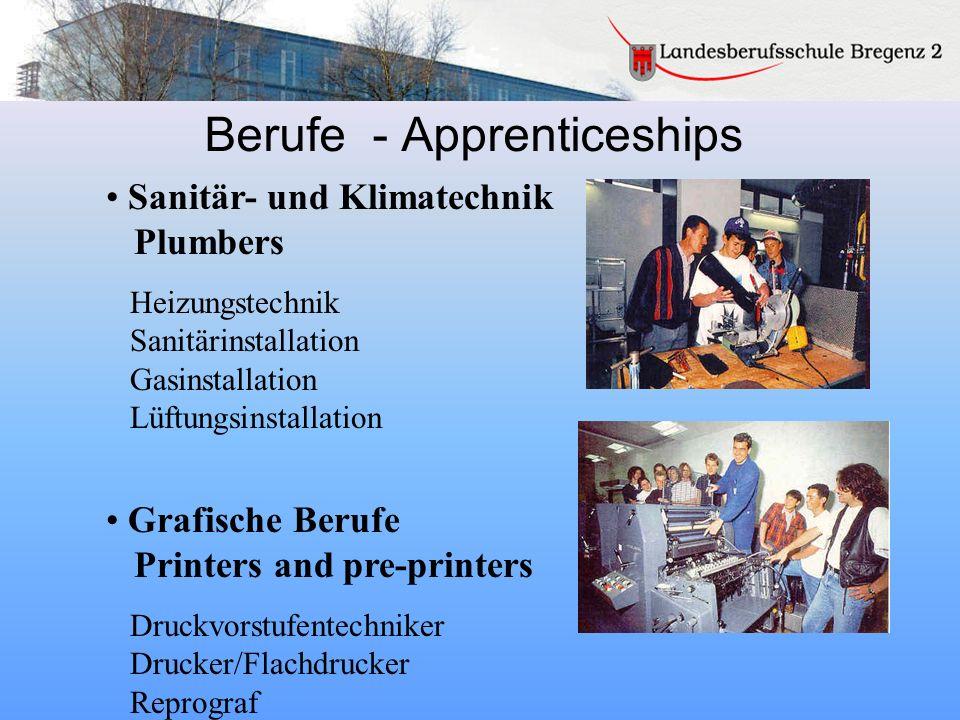 Berufe - Apprenticeships