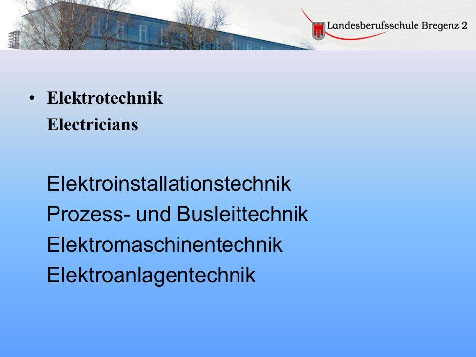 Elektroinstallationstechnik Prozess- und Busleittechnik