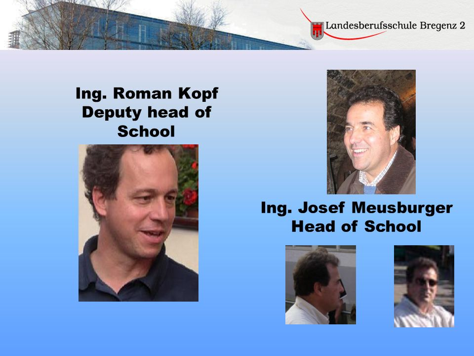 Ing. Roman Kopf Deputy head of School