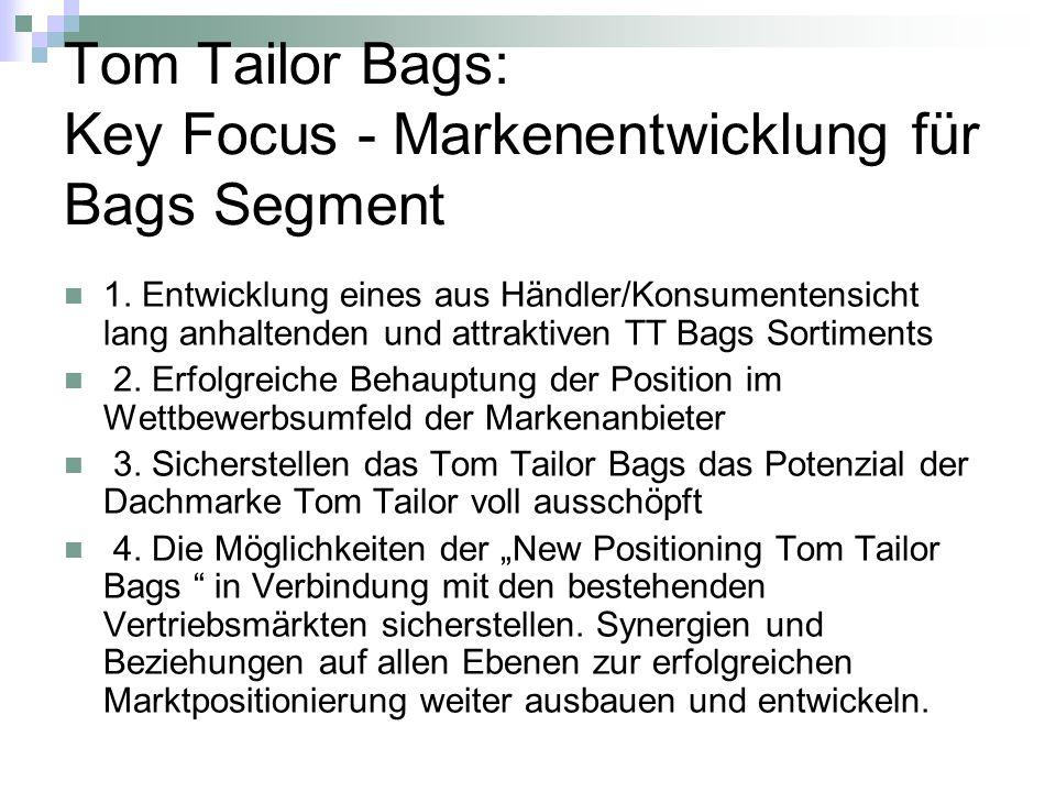 Tom Tailor Bags: Key Focus - Markenentwicklung für Bags Segment