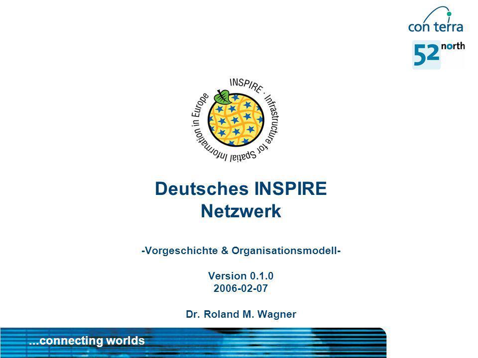 Deutsches INSPIRE Netzwerk -Vorgeschichte & Organisationsmodell- Version 0.1.0 2006-02-07 Dr.