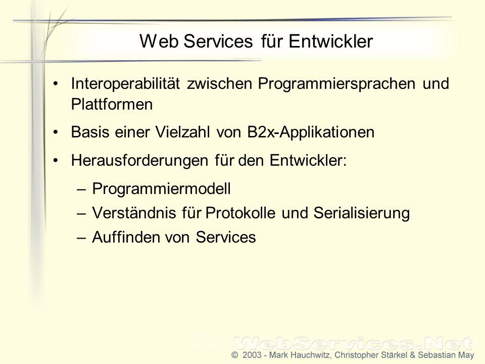 Web Services für Entwickler