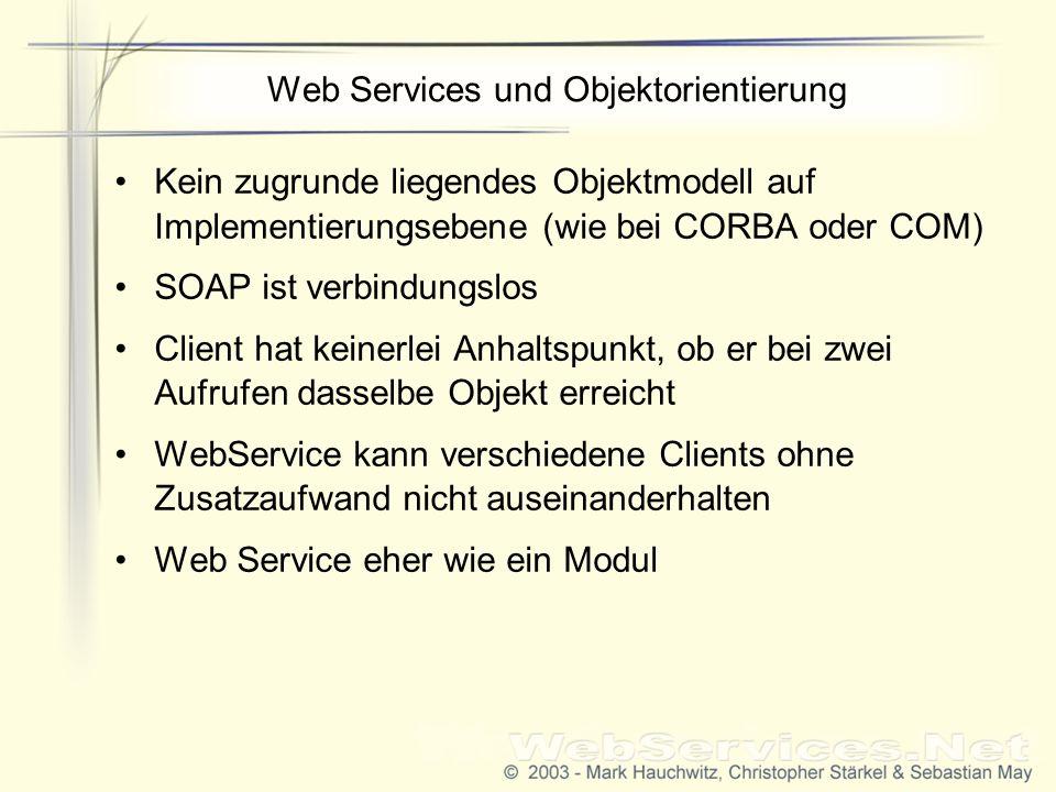 Web Services und Objektorientierung
