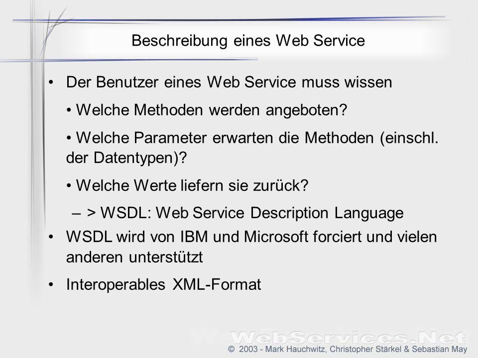 Beschreibung eines Web Service