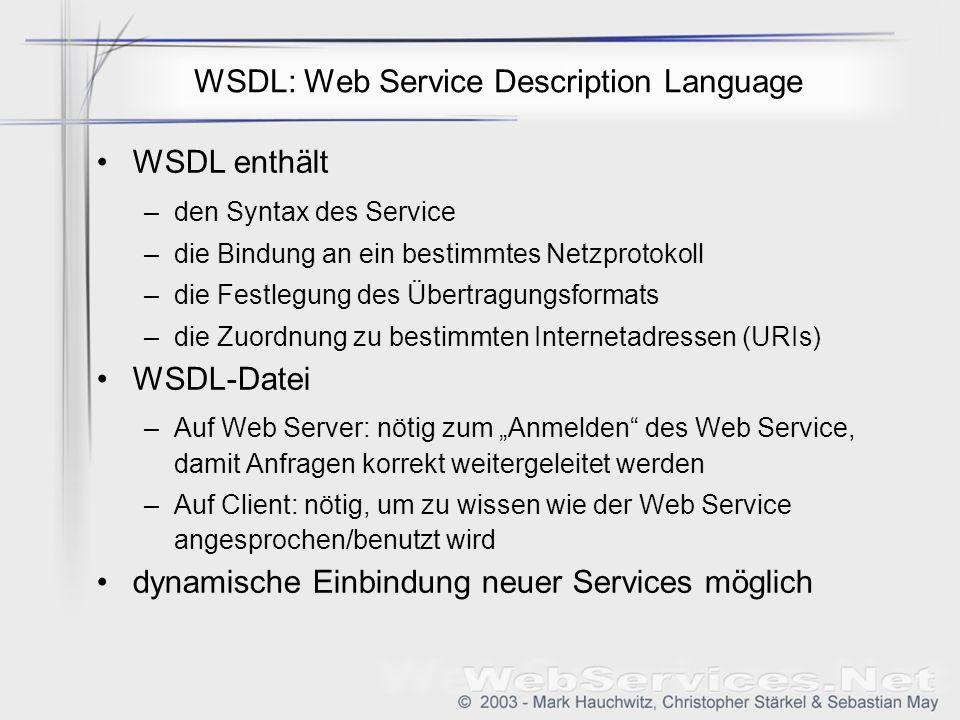 WSDL: Web Service Description Language