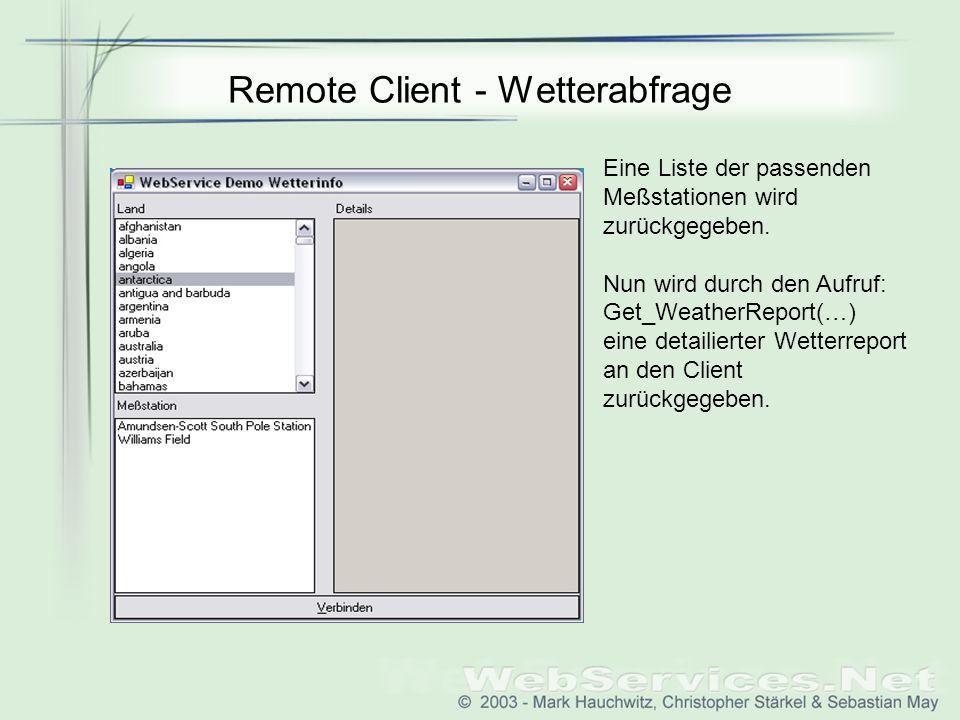 Remote Client - Wetterabfrage