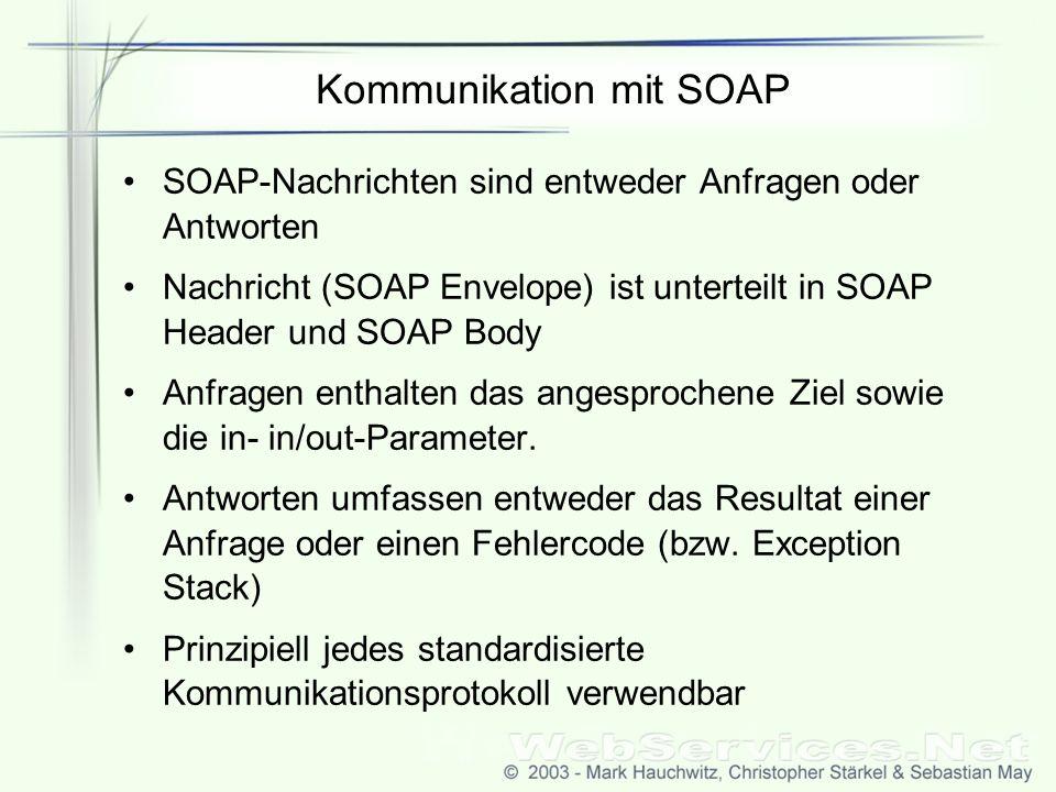 Kommunikation mit SOAP