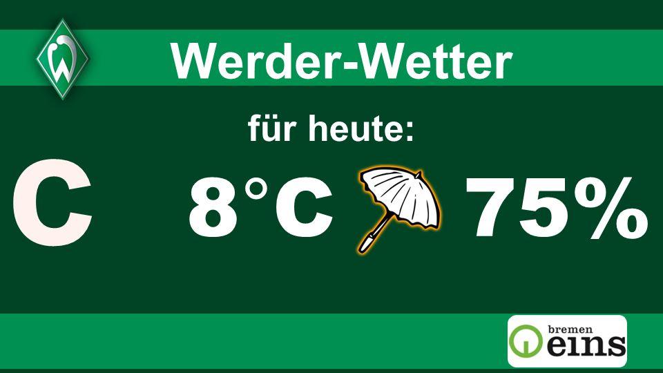 2 2 Werder-Wetter c für heute: 8°C 75% 2