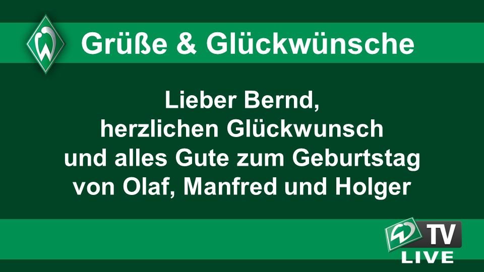 Grüße & Glückwünsche Lieber Bernd, herzlichen Glückwunsch