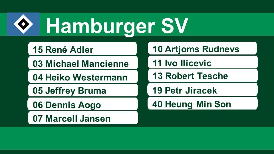 Hamburger SV 15 René Adler 10 Artjoms Rudnevs 03 Michael Mancienne