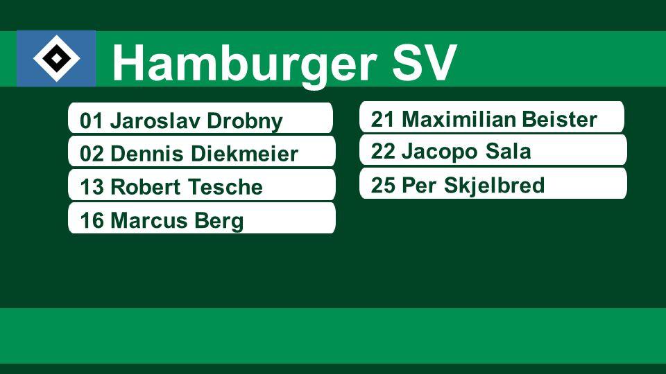 Hamburger SV 01 Jaroslav Drobny 21 Maximilian Beister 22 Jacopo Sala