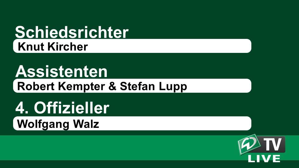 Schiedsrichter Assistenten 4. Offizieller Knut Kircher