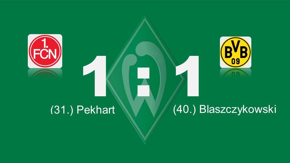 1 : 1 Bochum – KSC (31.) Pekhart (40.) Blaszczykowski (45.) Kagawa