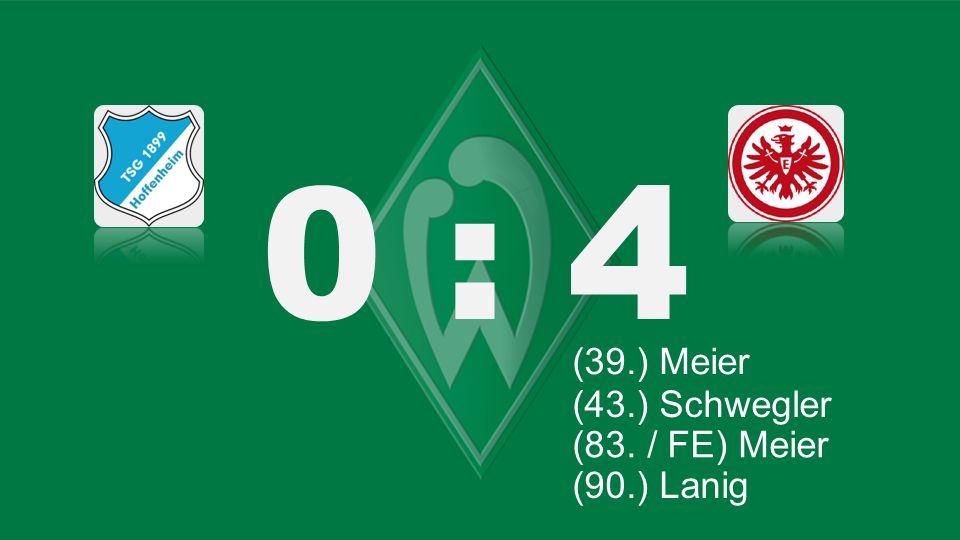 0 : 4 Bochum – KSC (39.) Meier (43.) Schwegler (27.) Lewandowski