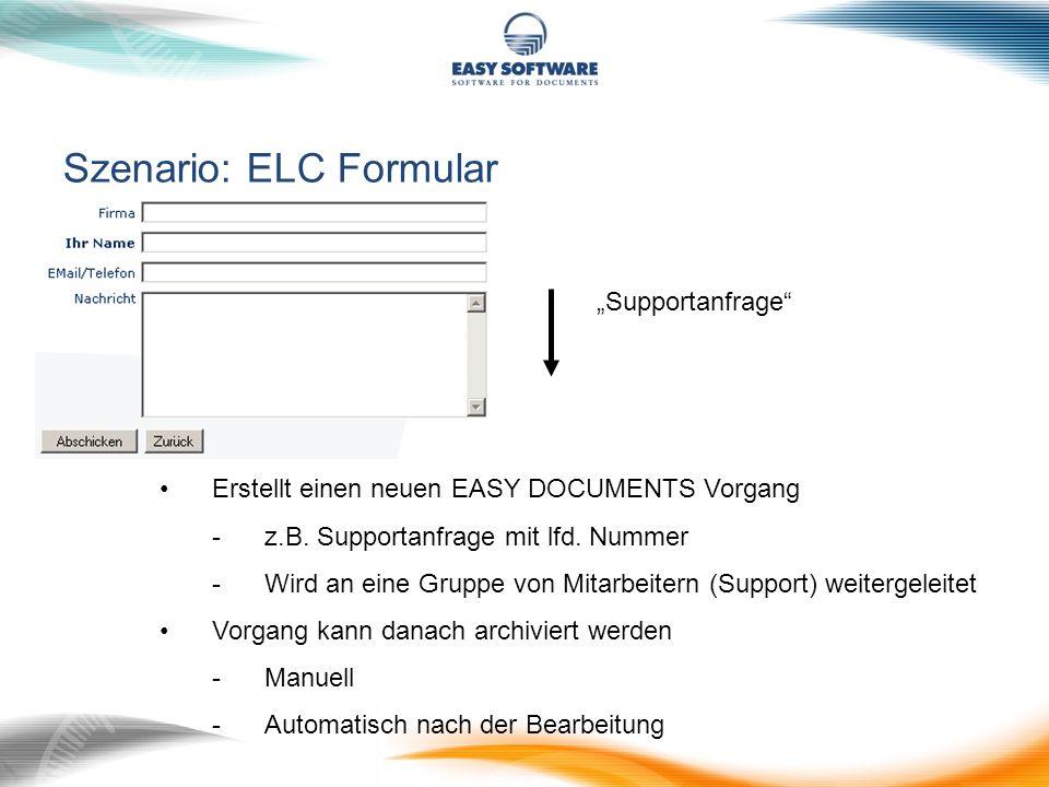 Szenario: ELC Formular