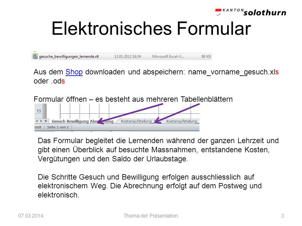 Elektronisches Formular
