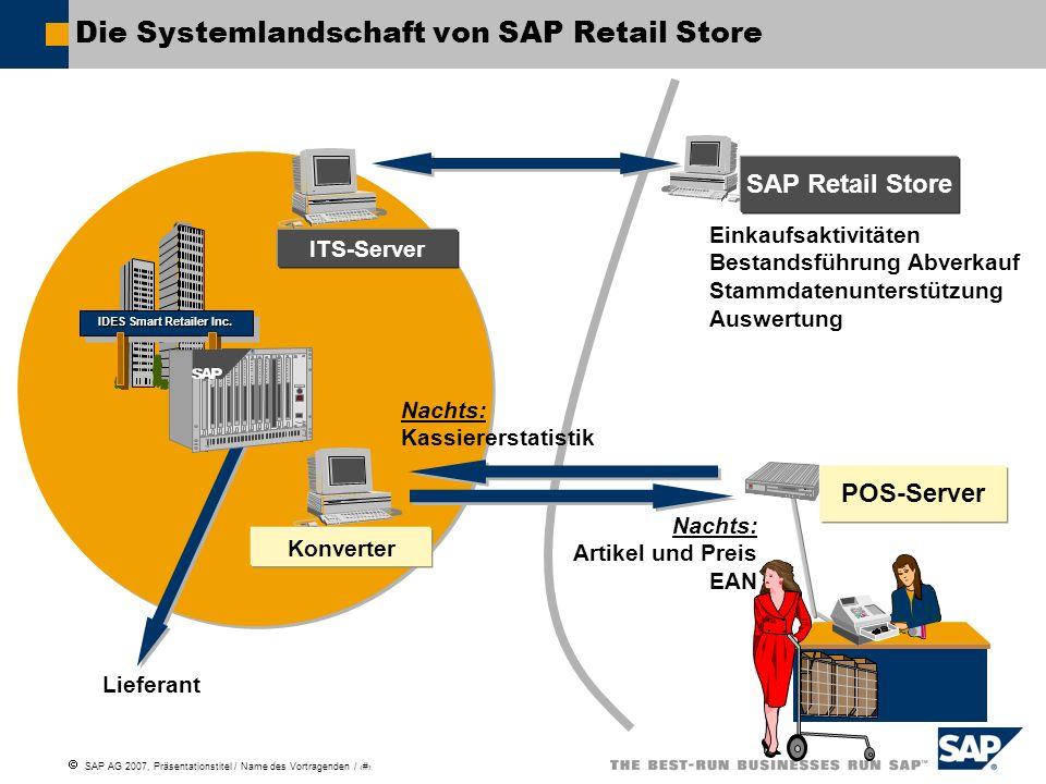 Die Systemlandschaft von SAP Retail Store