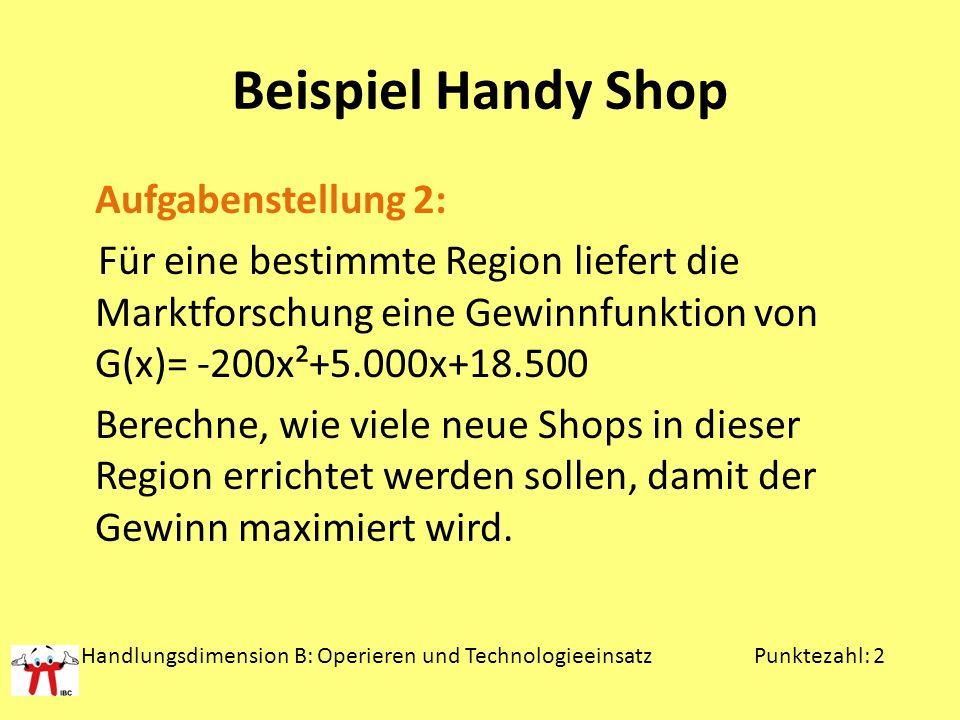Beispiel Handy Shop