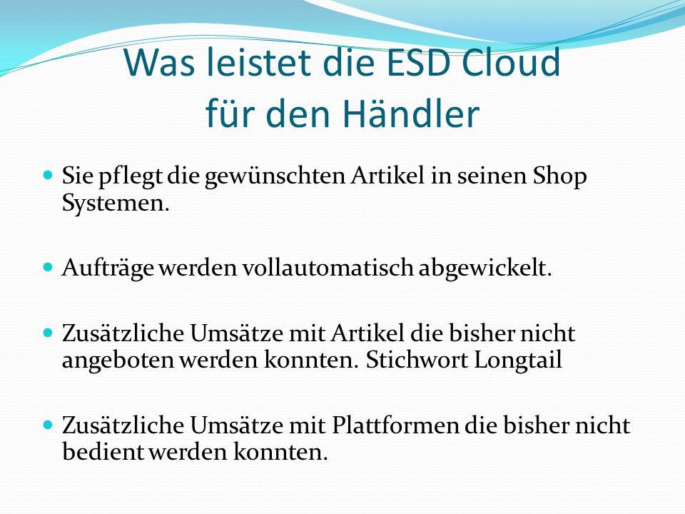Was leistet die ESD Cloud für den Händler