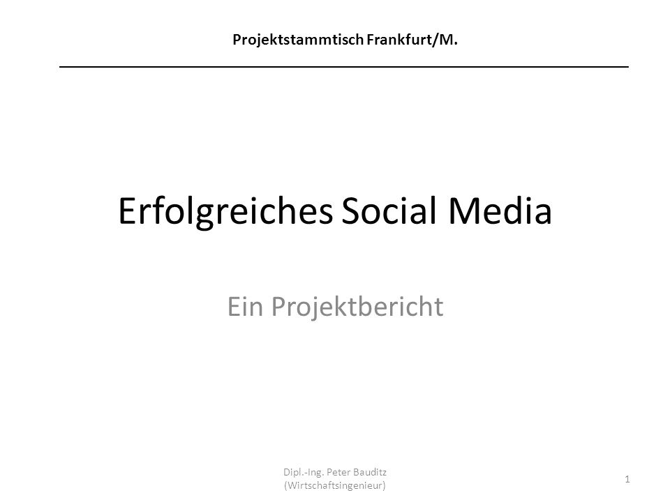 Erfolgreiches Social Media