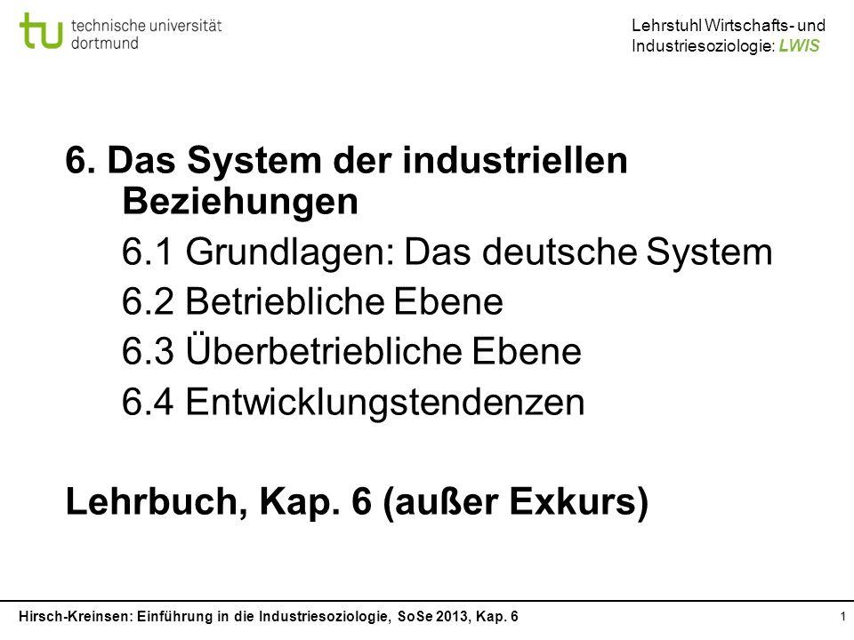 6. Das System der industriellen Beziehungen
